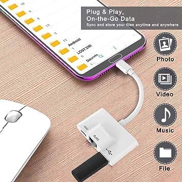 ETbotu - Tarjeta de Red Externa, hub USB-C, Adaptador HDMI ...
