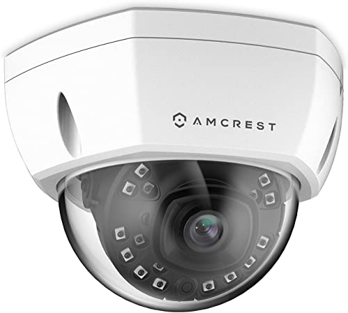 Amcrest 5MP Outdoor PoE IP Camera, UltraHD 5MP Security Camera, 2.8mm Lens, IP67 Weatherproof Security, Cloud MicroSD Recording IP5M-1176EW White