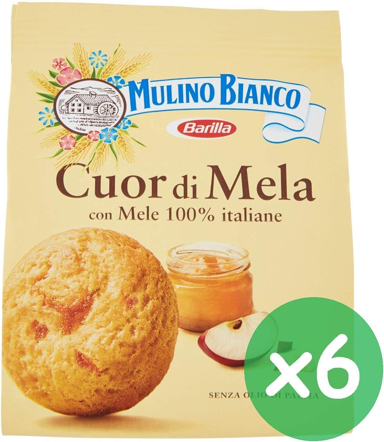 Bianco Cuor Mela - Juego de 6 galletas (300 g), diseño de manzanas ...