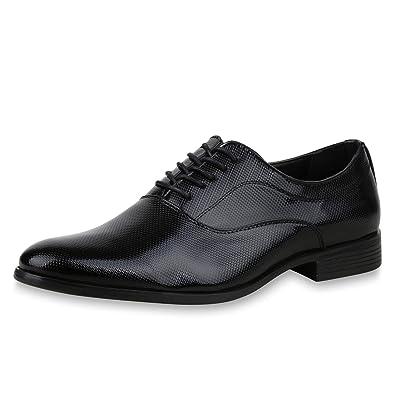 SCARPE VITA Herren Business Schuhe Klassische Schnürer Lack