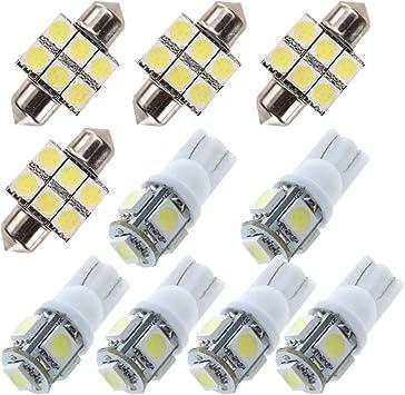 11 Bulbs 2013-2018 Mazda CX-5 LED Interior License Reverse Light Package Kit