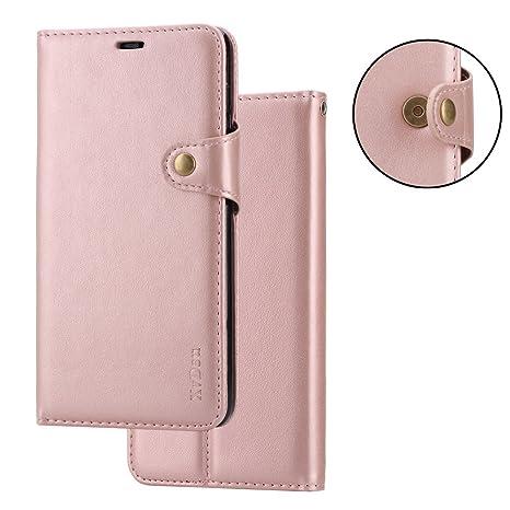 6a502e65ec XvDsu Cover Xiaomi Redmi Note 5, Custodia a Portafoglio Flip Folio in Pelle  con Porta