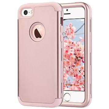 ULAK Caso del iPhone 5s iPhone SE Funda iPhone 5 Carcasa Protector de Impacto Case para el iPhone SE / 5S / 5 (Oro Rosa)