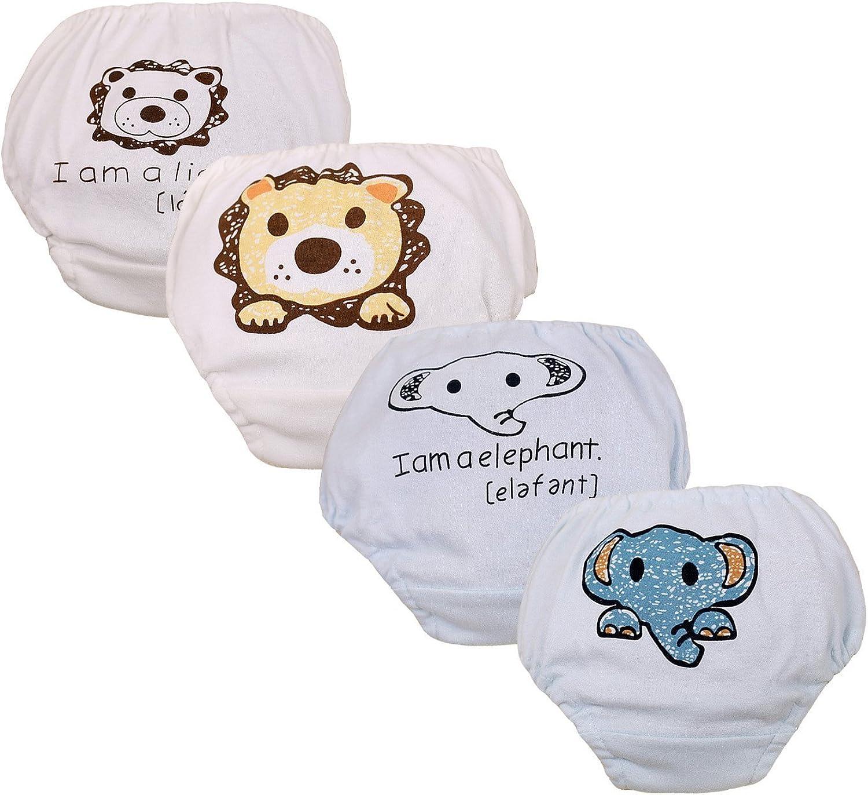 2-Pack Jojobaby Baby Girls 100/% Cotton Potty Training Pants Reusable