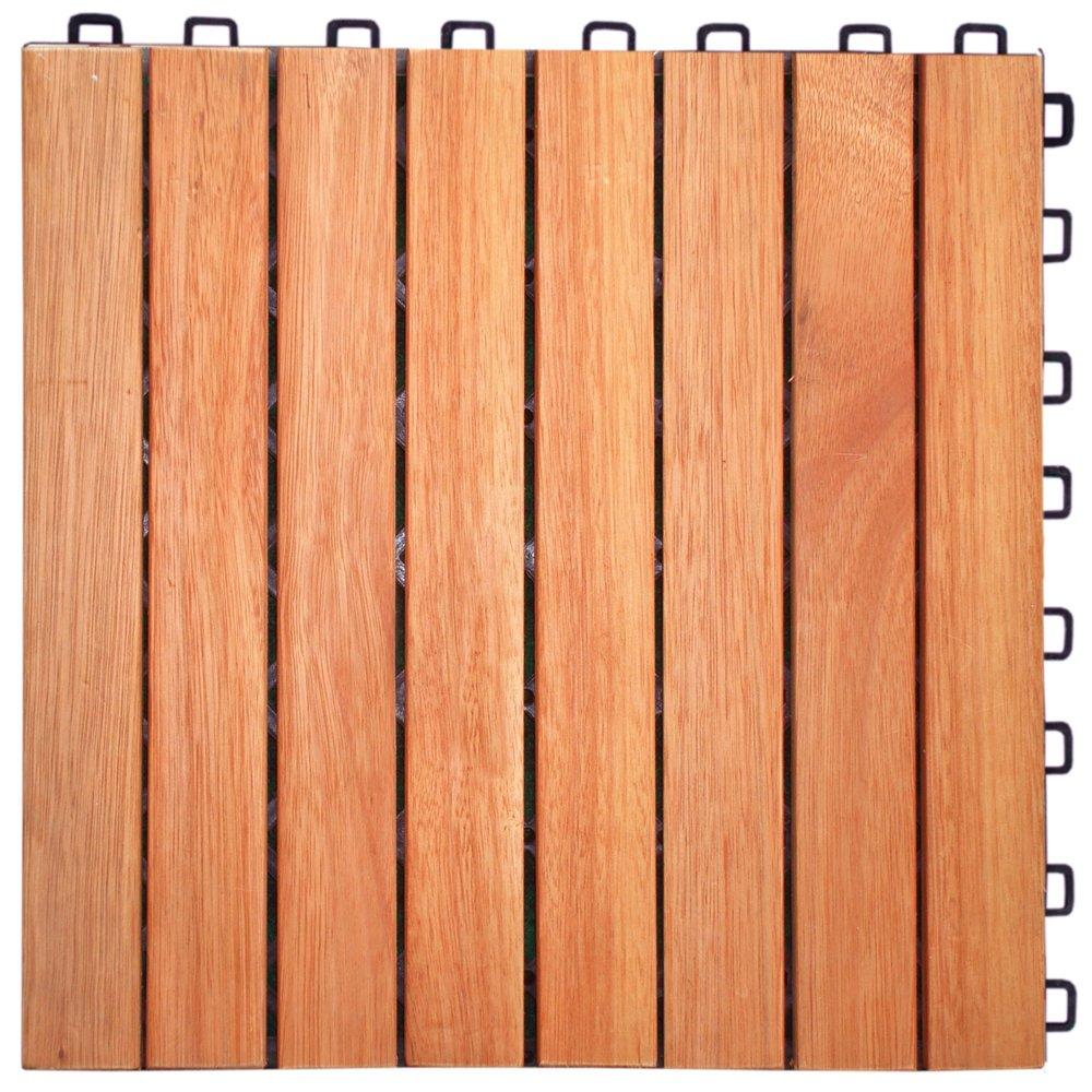 Amazon Com Eucalyptus Hardwood Straight Slat Design