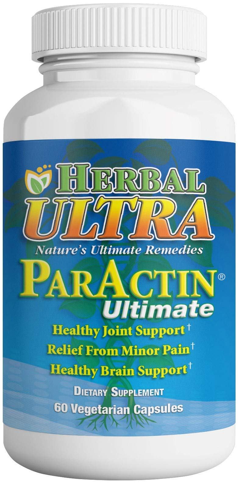 ParActin - Anti-Inflammatory Supplement - Back, Neck, Pain, and Joint Support Vitamins - Herbal Ultra (60 Count) by Herbal Ultra Nature's Ultimate Remedies