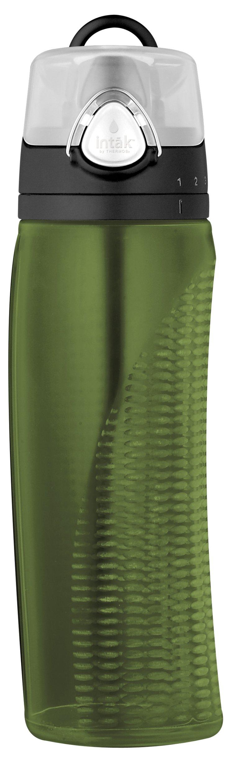 써모스 물통 Thermos Intak 24 Ounce Hydration Bottle with Meter, Green