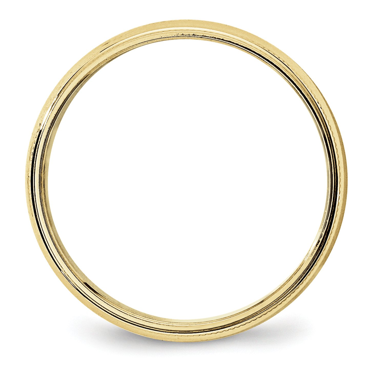 10k Yellow Gold 5mm LTW Milgrain Half Round Wedding Band Fine Jewelry Ideal Gifts For Women