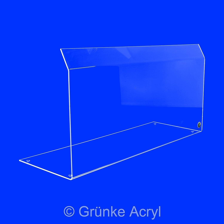 Grünke Original Spuckschutz Thekenaufsatz Nr. 1 Hustenschutz Niesschutz aus Acrylglas Acryl (Breite: 50cm) A+S Grünke Kunststoffe GmbH