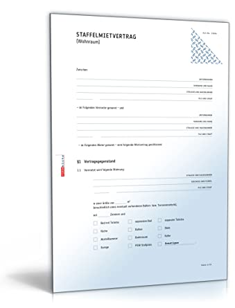 staffelmietvertrag wohnung pdf download - Staffelmietvertrag Muster