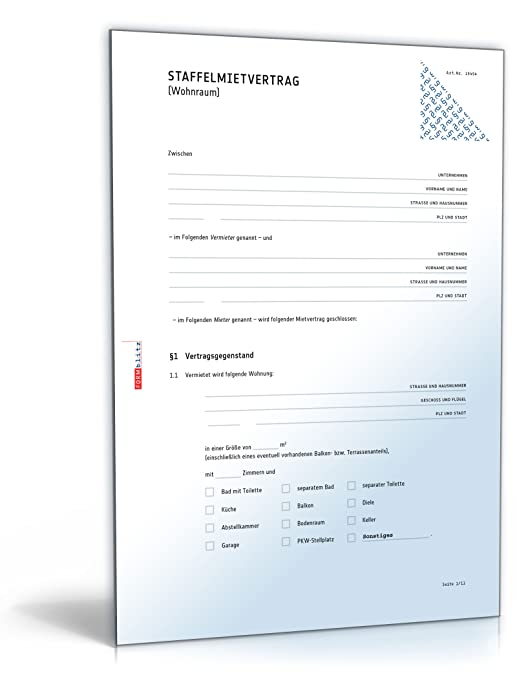 staffelmietvertrag wohnung pdf download amazonde software - Staffelmietvertrag Muster