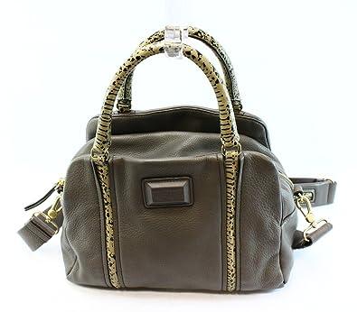 5707b188d1c3 Amazon.com  Marc Jacobs Q Snake Satchel Leather Faded Aluminum Grey Multi  Bag  Shoes