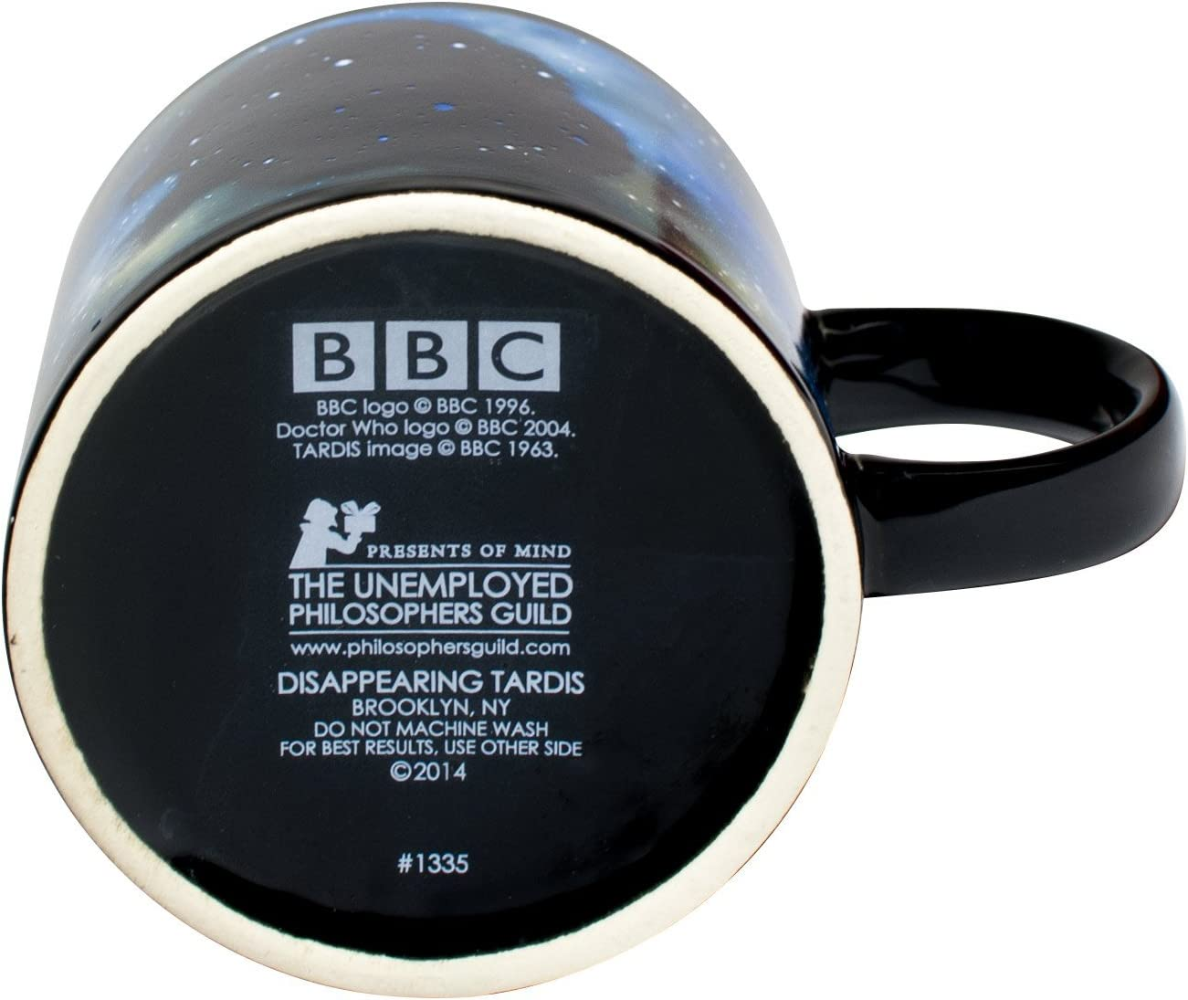1605 Doctor Who Disappearing Tardis 12oz Ceramic Mug Coffee Cup BBC Time Lord