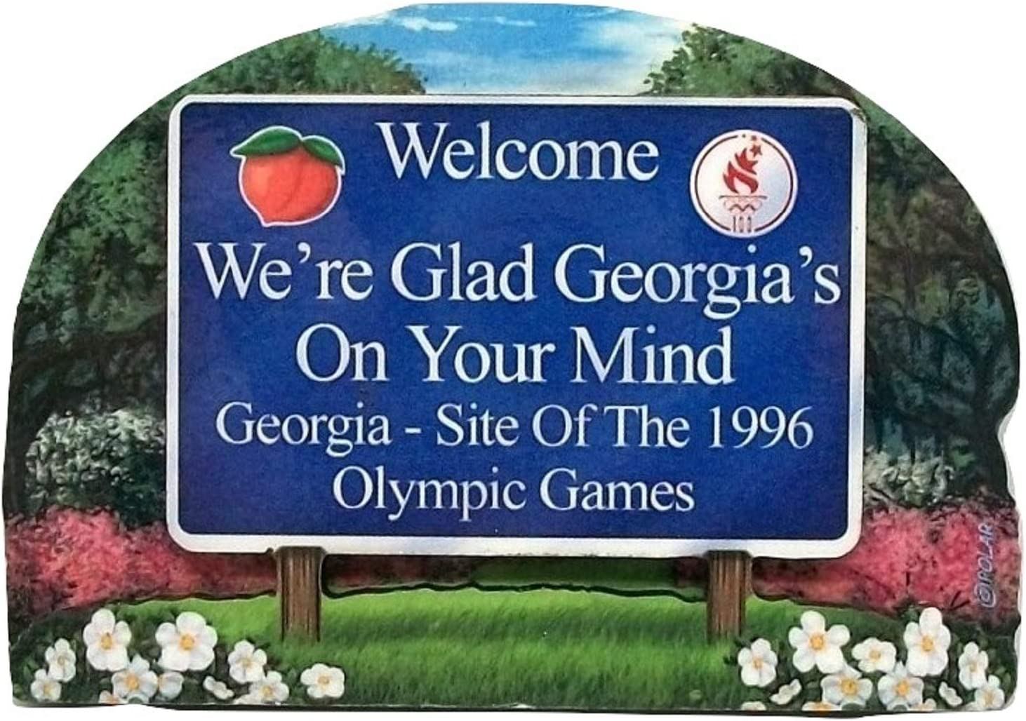 Georgia State Welcome Sign Wood Fridge Magnet 2