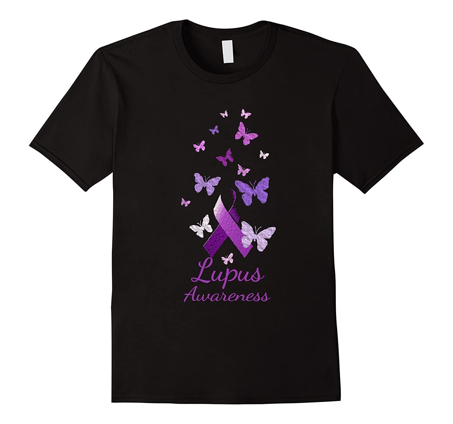 Purple Awareness Ribbon with Butterflies Shirt-Vaci