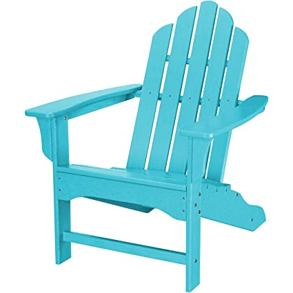 Hanover Outdoor Furniture HVLNA10AR All Weather Contoured Adirondack Chair,  Aruba