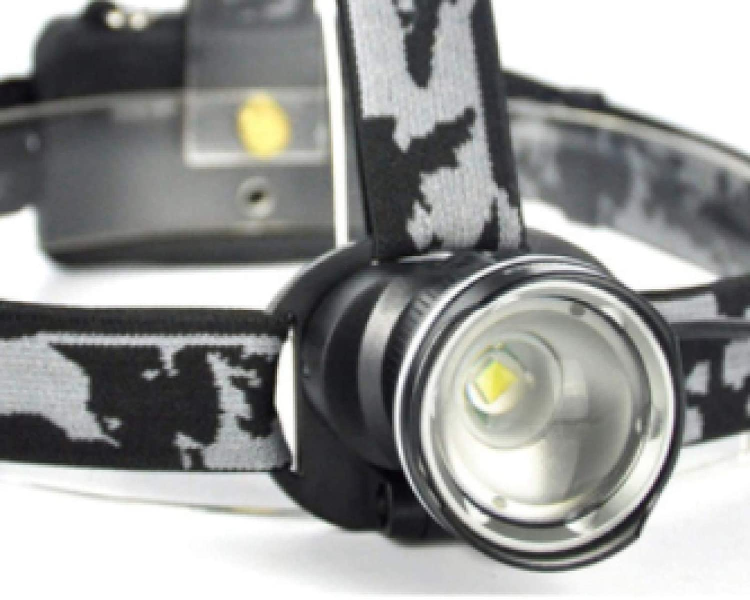 Head Torch Headlamp Headlamp 3-Mode Zoom Headlight High Power 3000LM Head Torch 18650 Rechargeable Hunting Flashlight As The Picture Show