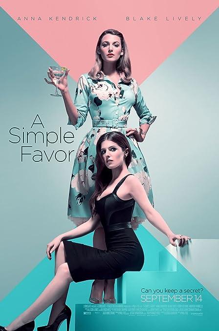 lunaprint A Simple Favor Movie Poster 70 X 45 cm: Amazon.co.uk ...