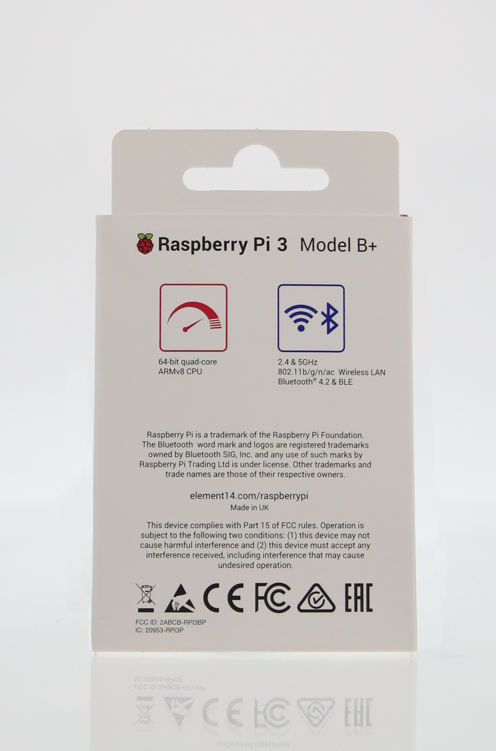 Element14 Raspberry Pi 3 B+ Motherboard by Element