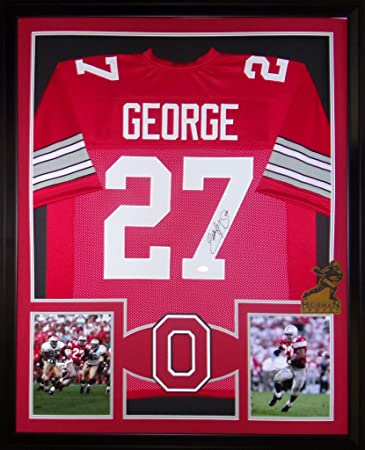 separation shoes da781 ea3c6 Eddie George Ohio State Buckeyes Autograph Signed Custom ...