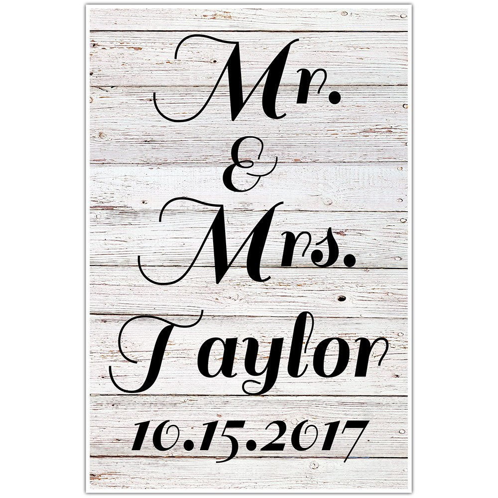 Personalized Mr. and Mrs. | Custom Name Gifts | Personalized Wedding Gift for Couple | Gift for Bride | Wedding Gift Last Name Est | Gift Ideas