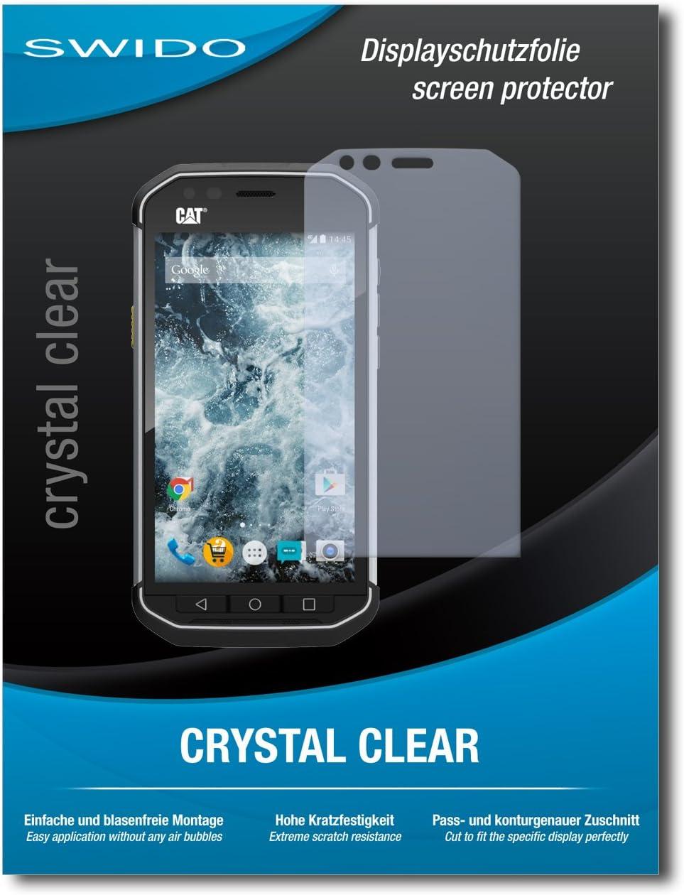 3 x SWIDO/® Protector de pantalla Caterpillar Cat S60 Protectores de pantalla de pel/ícula AntiReflex antideslumbrante