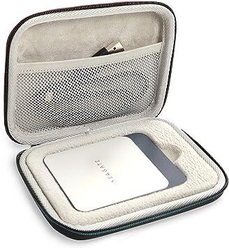 ProCase Estuche de Viaje para Seagate Fast SSD Barracuda 500GB/ 250GB/ 1TB/ 2TB, Funda Rígida Antigolpes para Disco Duro Externo Unidad Estado Sólido Portátil -Negro: Amazon.es: Electrónica