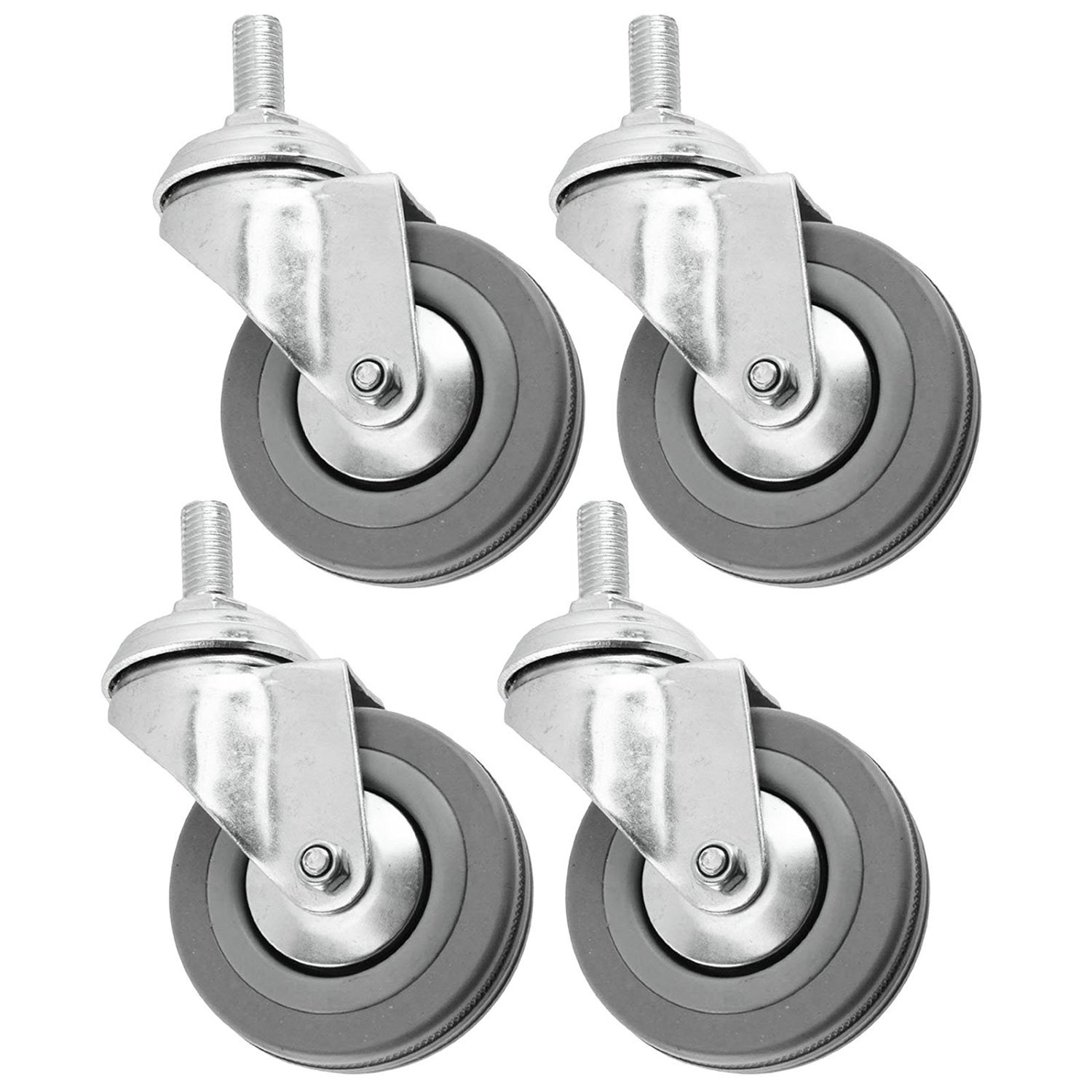 Castor Wheels 50mm M10 Threaded for Divan Bed Cabinet Drawers x 4 Nuts