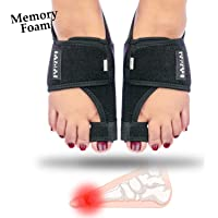 Bunion Corrector with Memory Foam Cushion + Gel Big Toe Bunion Guards, Adjustable Orthopedic Bunion Splint Separator Straightener Spacer, Pain Relief Aid for Hallux Valgus, Day/Night Alignment Support