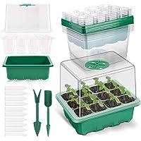 Juego de 5 bandejas de 120 celdas, kit de iniciación de germinación de plantas Angtuo con cúpula de humedad y base para…