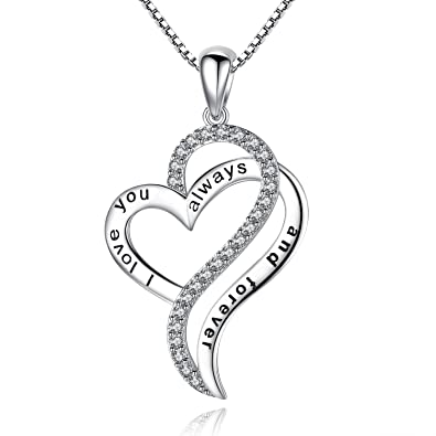 Amazon i love you always and forever heart love pendant i love you always and forever heart love pendant necklace gifts for her aloadofball Images
