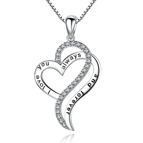 Amazon i love you always and forever heart love pendant amazon i love you always and forever heart love pendant necklace mothers day birthday anniversary gift for mom women sister friend jewelry aloadofball Choice Image