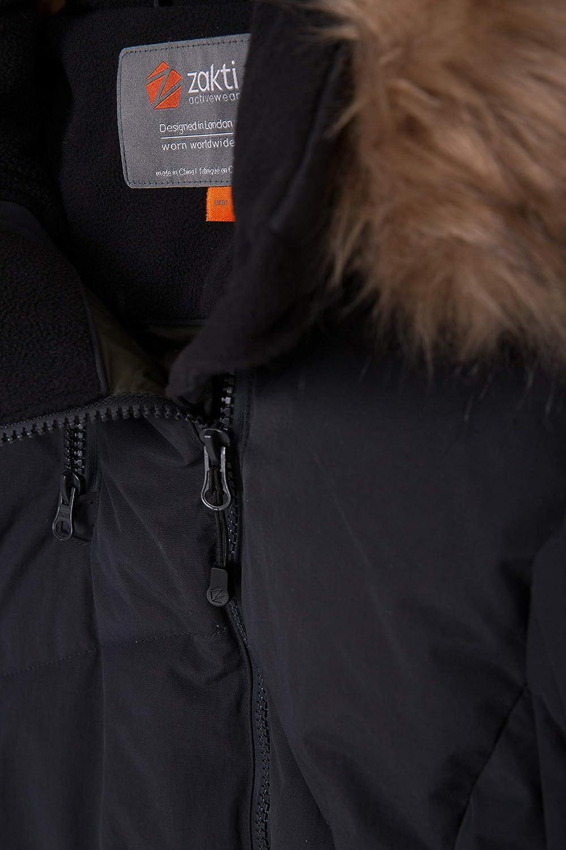 Mountain Warehouse Chaqueta Acolchada Snowglobe para Mujer Abrigo Suave de Invierno Impermeable y Aislante Larga Piel Desmontable para acampadas Dise/ño Acolchado