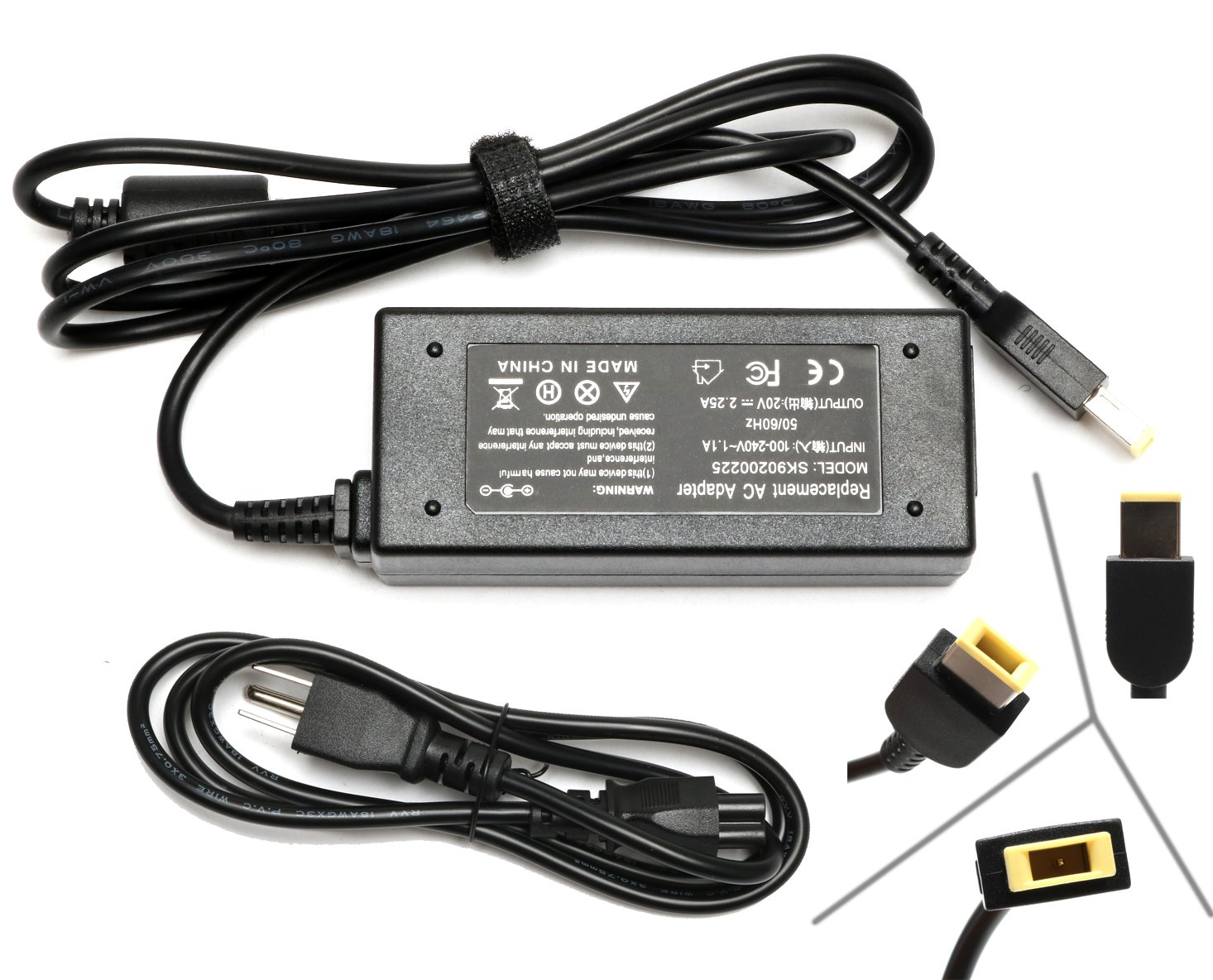 Adlx45 Dlc3 A Adlx45 Ncc2 A Adlx45 Nlc2 A Adlx45 Nlc3 A 45 N0289 45 N0294 45 N0295 Pa 1450 12 0 C19880 36200280 Laptop Charger For 45 W Lenovo Power Supply Charger Adapter by Rolada