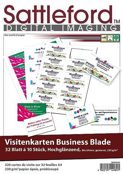 Sattleford Visitenkarte Bedruckbar 320 Visitenkarten Glossy