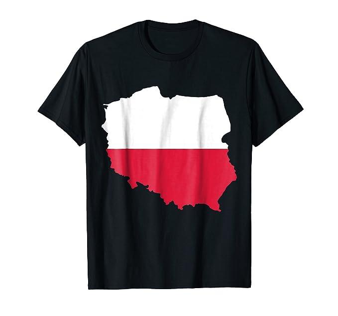 Amazon.com: Poland Map T-Shirt Poland Flag Shirt: Clothing