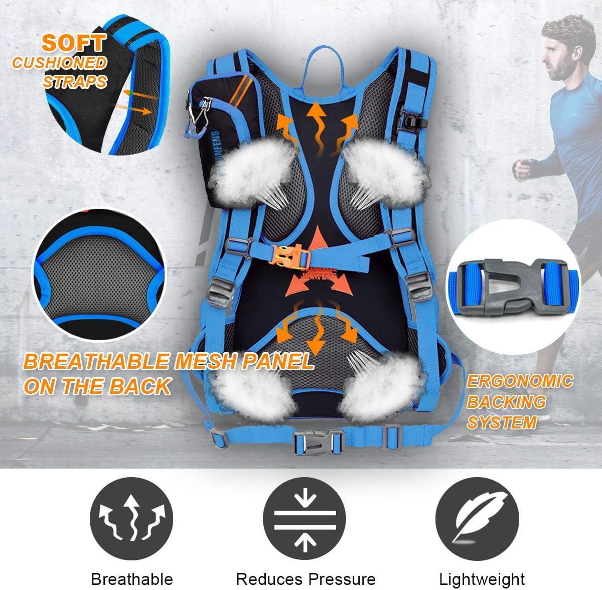 Keethem Mochila de Ciclismo 18L Impermeable para Excursionismo Ciclismo Alpinismo Senderismo Camping al Aire Libre con 2 mosquetones Gratis