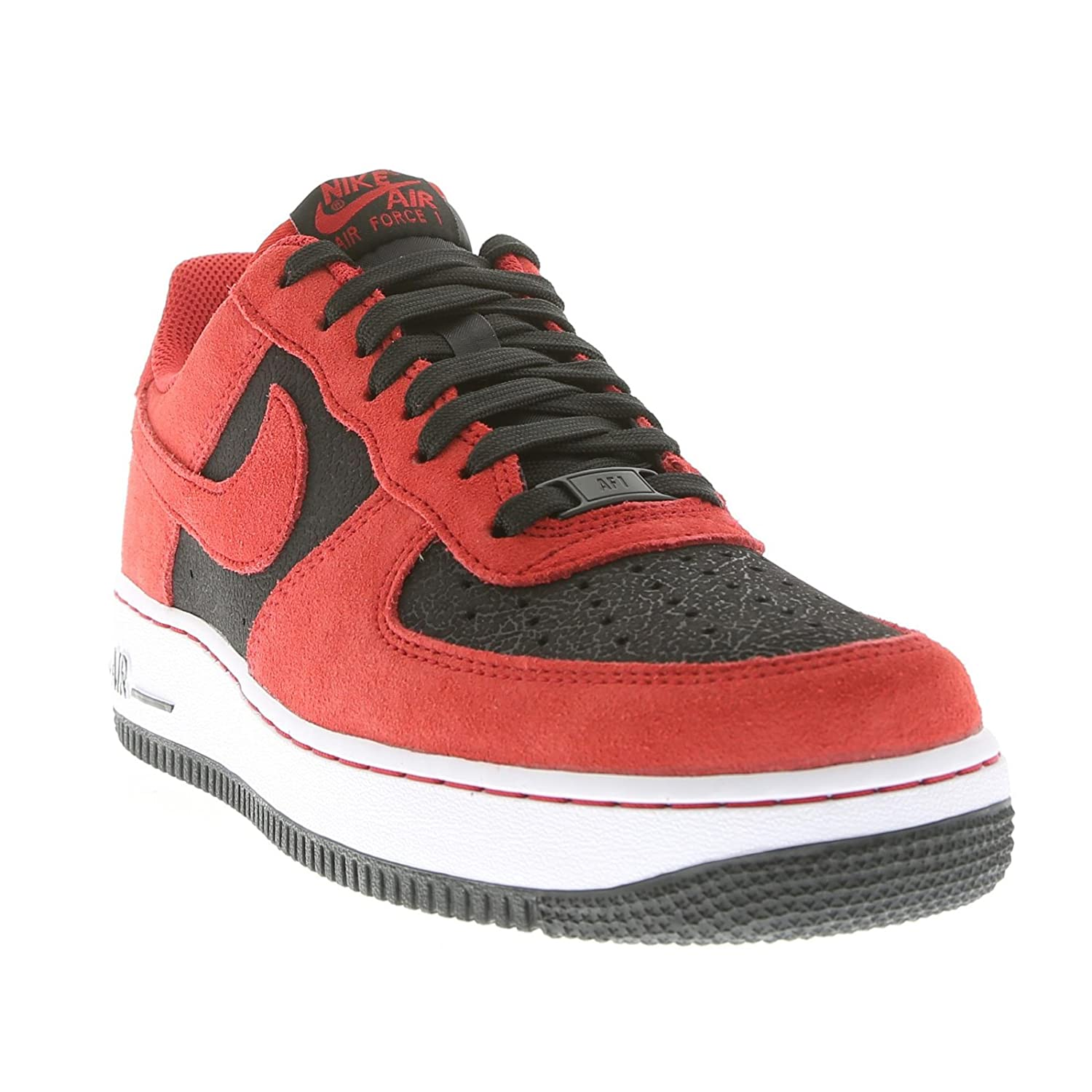 designer fashion 8a435 c8cd3 ... Amazon.com Nike Air Force 1 Red Black Mens Trainers Fashion Sneakers ...