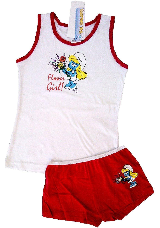 Girls Official Licensed Smurfs Underwear Set