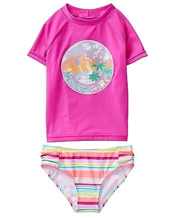 cfeacf8f2 Amazon.com  Gymboree Girls  2-Piece Short Sleeve Rashguard Set  Clothing
