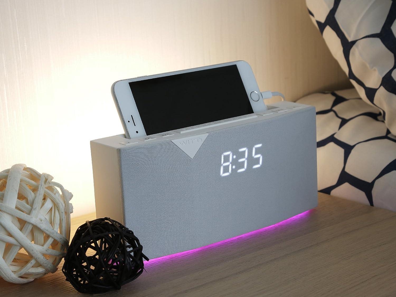 Amazon.com: WITTI BEDDI Smart Radio Alarm Clock Speaker with Smart ...