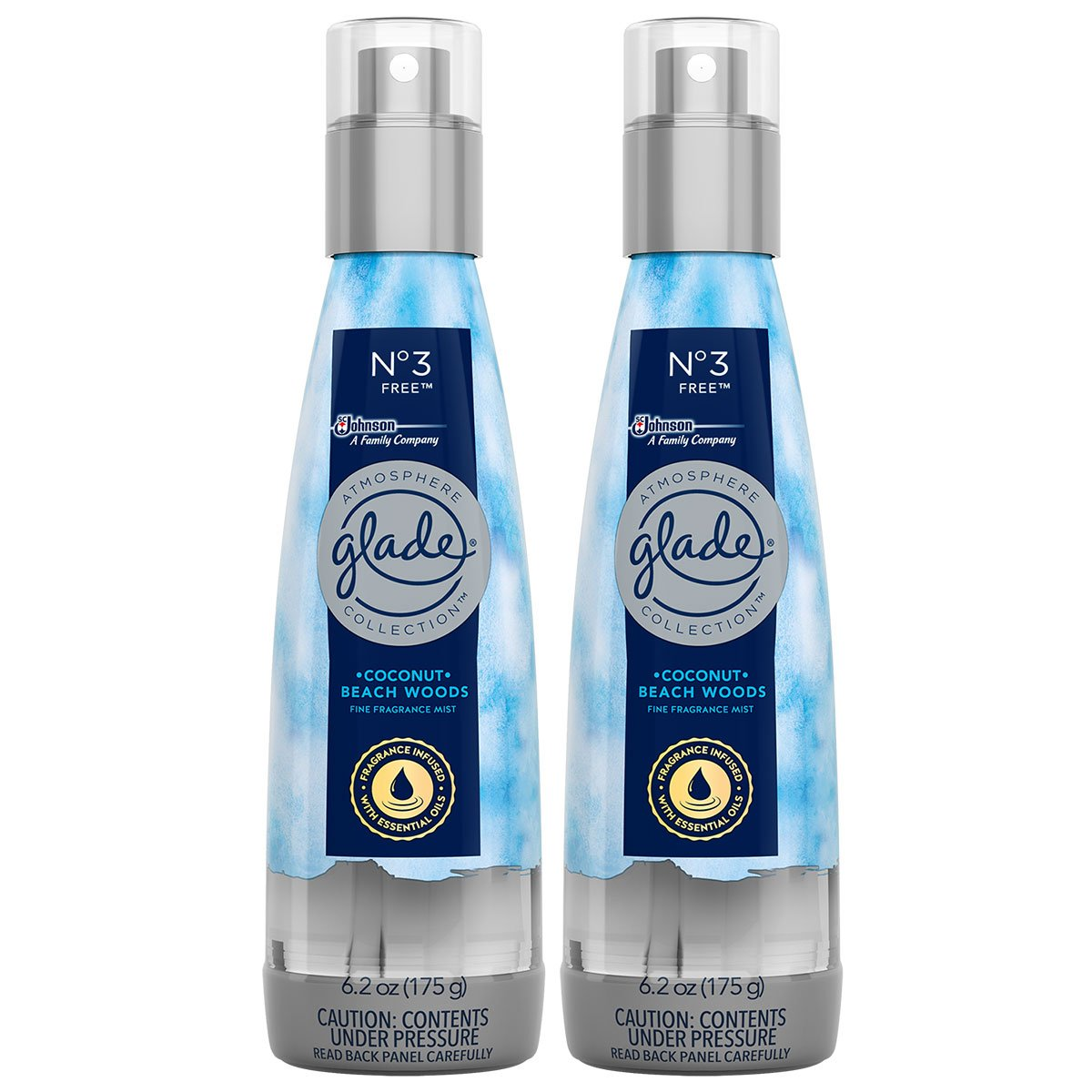 Glade Fine Fragrance Mist NO 3 Free Coconut and Beach Woods, 6.2 OZ