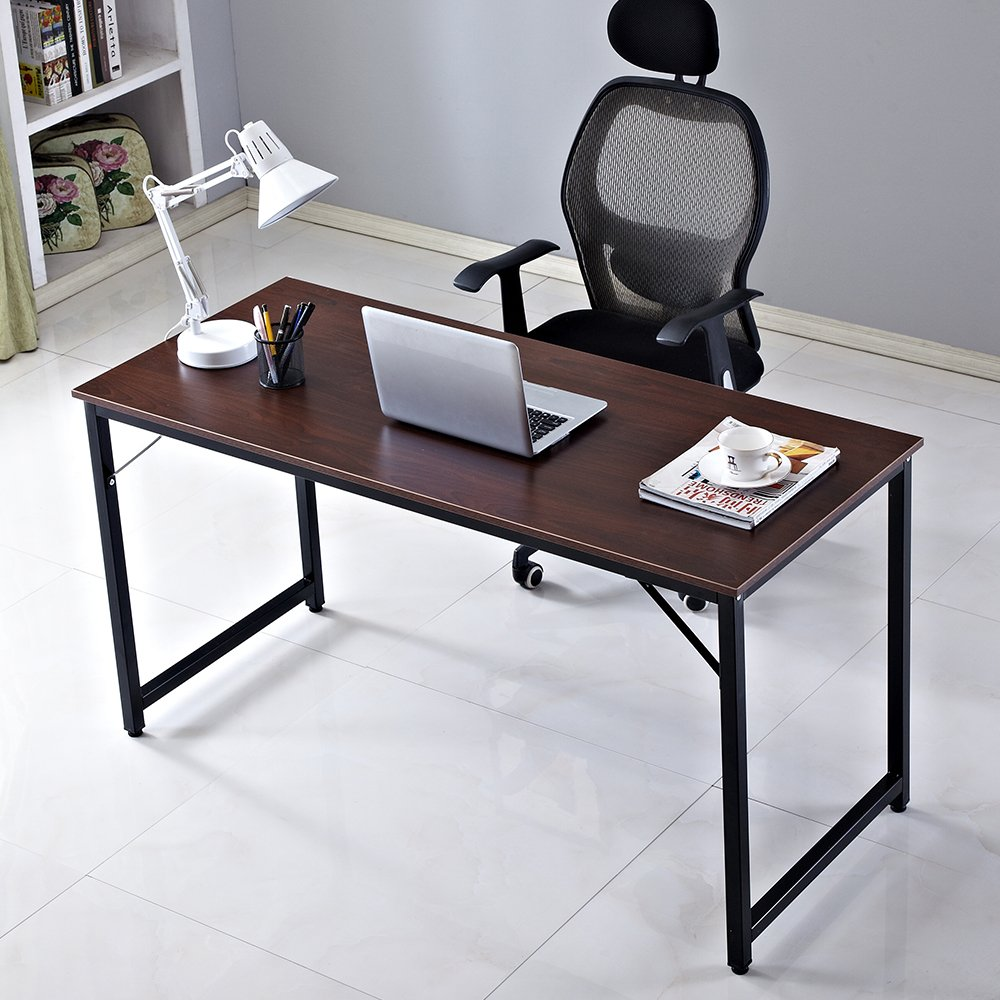 Soges Computer Desk 55 PC Home Office Use Walnut JJ T 140 CA Amazonca Kitchen