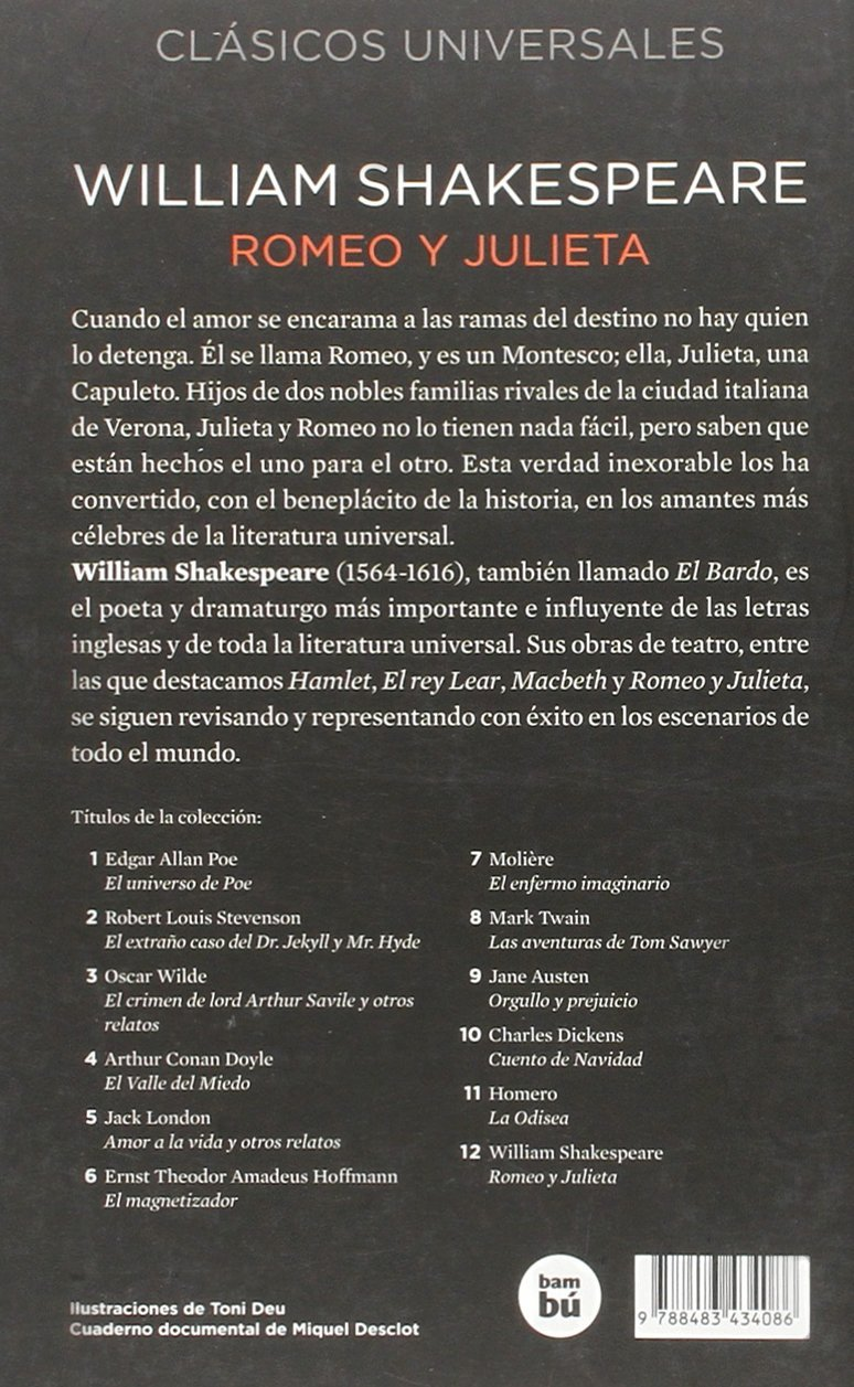 Amazon.com: Romeo y Julieta (Letras Mayusculas: Clasicos Universales) (9788483434086): William Shakespeare, Concha Cardeñoso: Books
