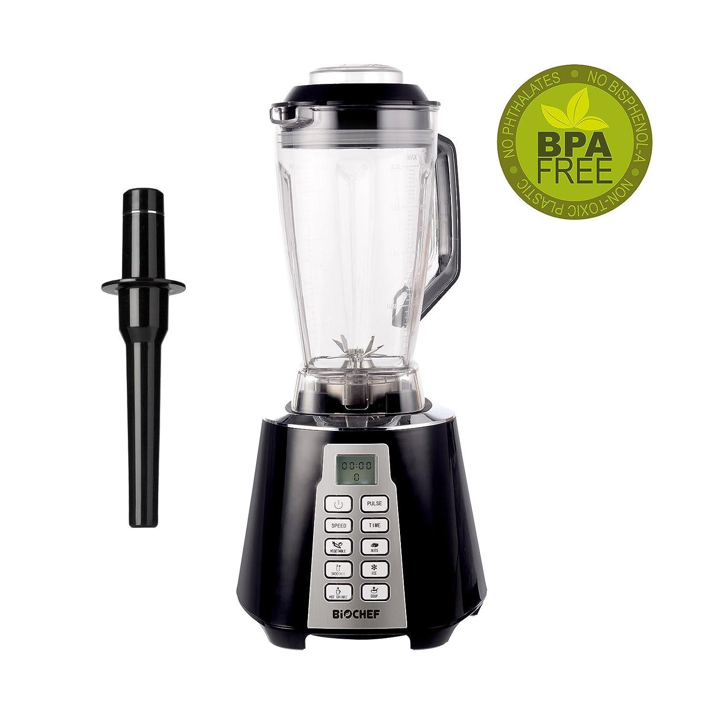 Bio Chef Nova - Batidora de Vaso   Blender   Batidora Americana de Vaso   1600W   28.000RPM   BPA Free   6 programas (Negro): Amazon.es