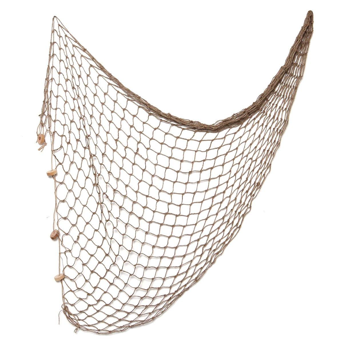 WINOMO 12m Mediterranean Style decorative Fishing Net Wall Photographing Decoration