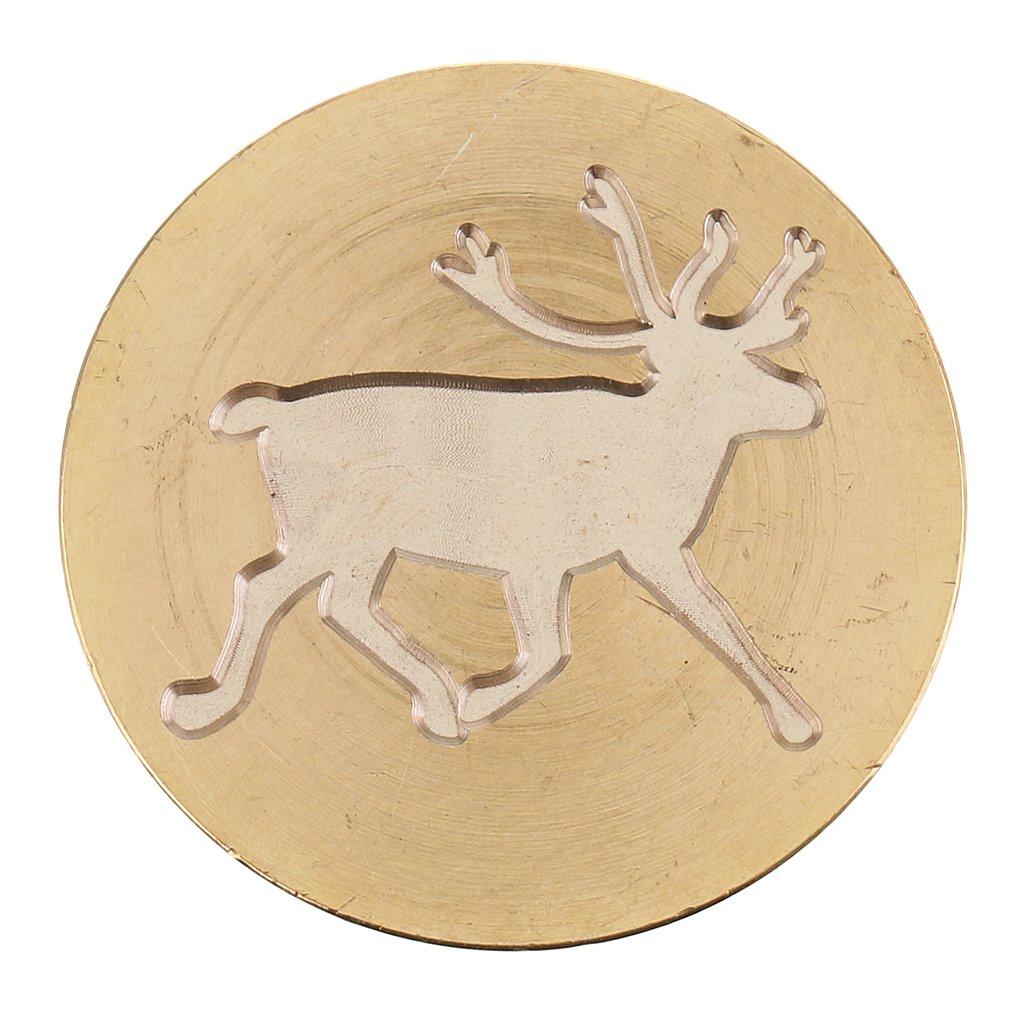 MagiDeal DIY Xmas Themed Seal Wax Stamp Sealing Wooden Handle for Manuscripts Decorative 90x30mm #8 Snowflake