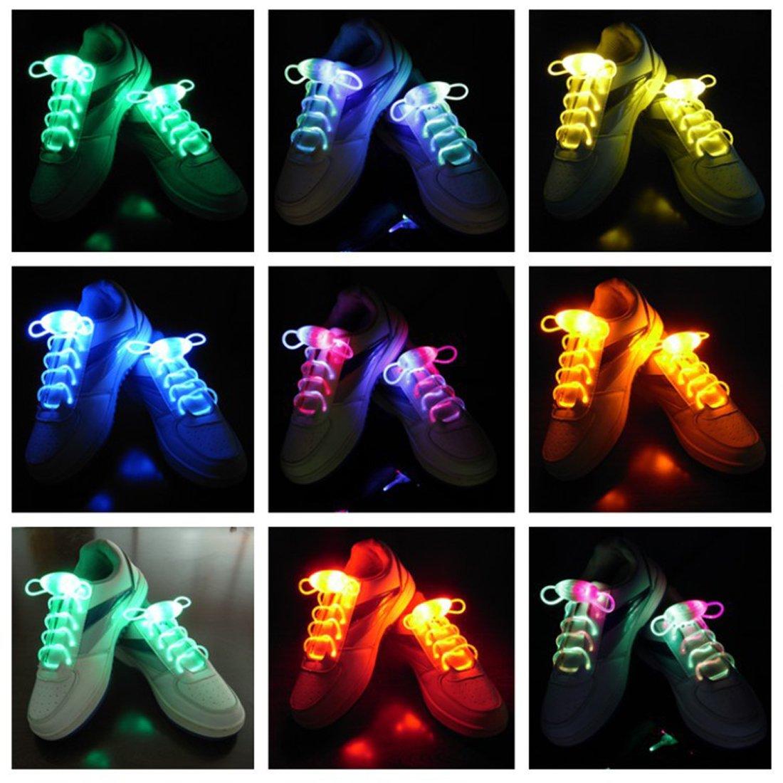 Joylive Fiber Optic Flash Light Up LED Shoelaces Shoe Laces Glow Stick Strap Shoelaces