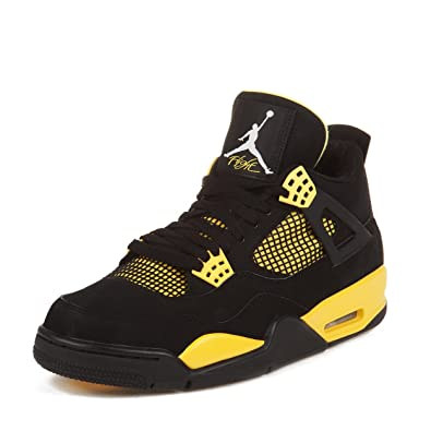 super popular e245f 7a746 Air Jordan 4 Retro (Thunder) Black/White-Tour Yellow (13)