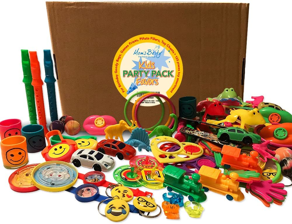 Party Packs Favors for Kids - 125 Pc Toy Assortment for Boys and Girls – Bulk Small Toys for Birthday Goody Bags, Games Prizes, Pinata Fillers, Toy Chests